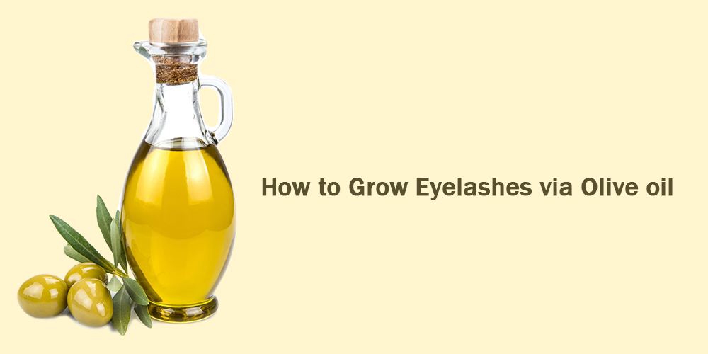 How to grow eyelashes via olive oil