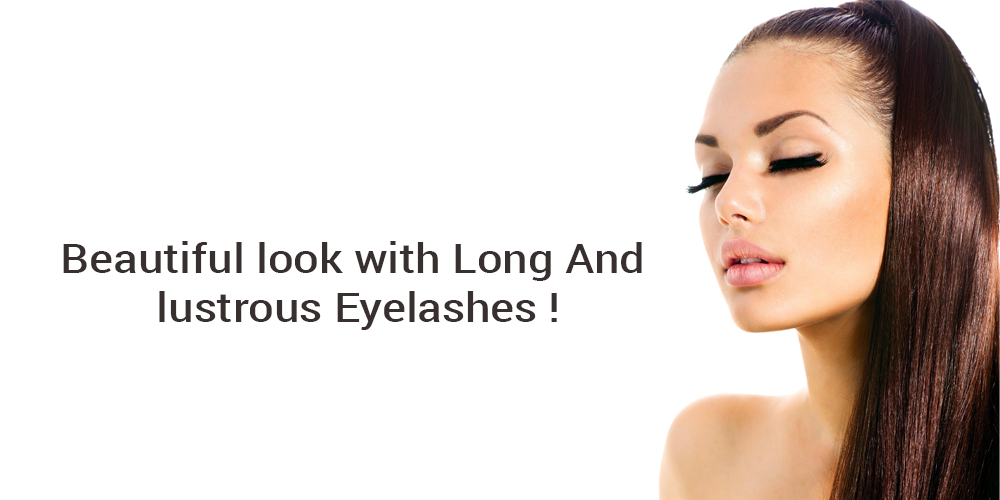 Beautiful look with long and lustrous eyelashes!